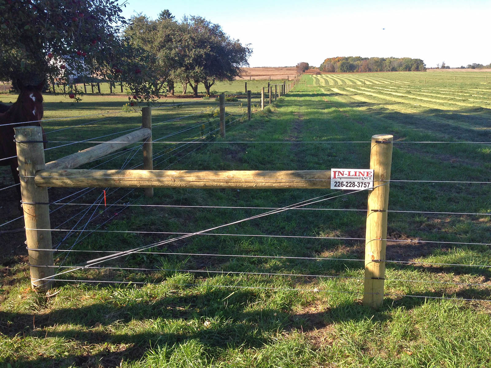 High Tensile Wire Fencing Ontario Projects - Inline Fence