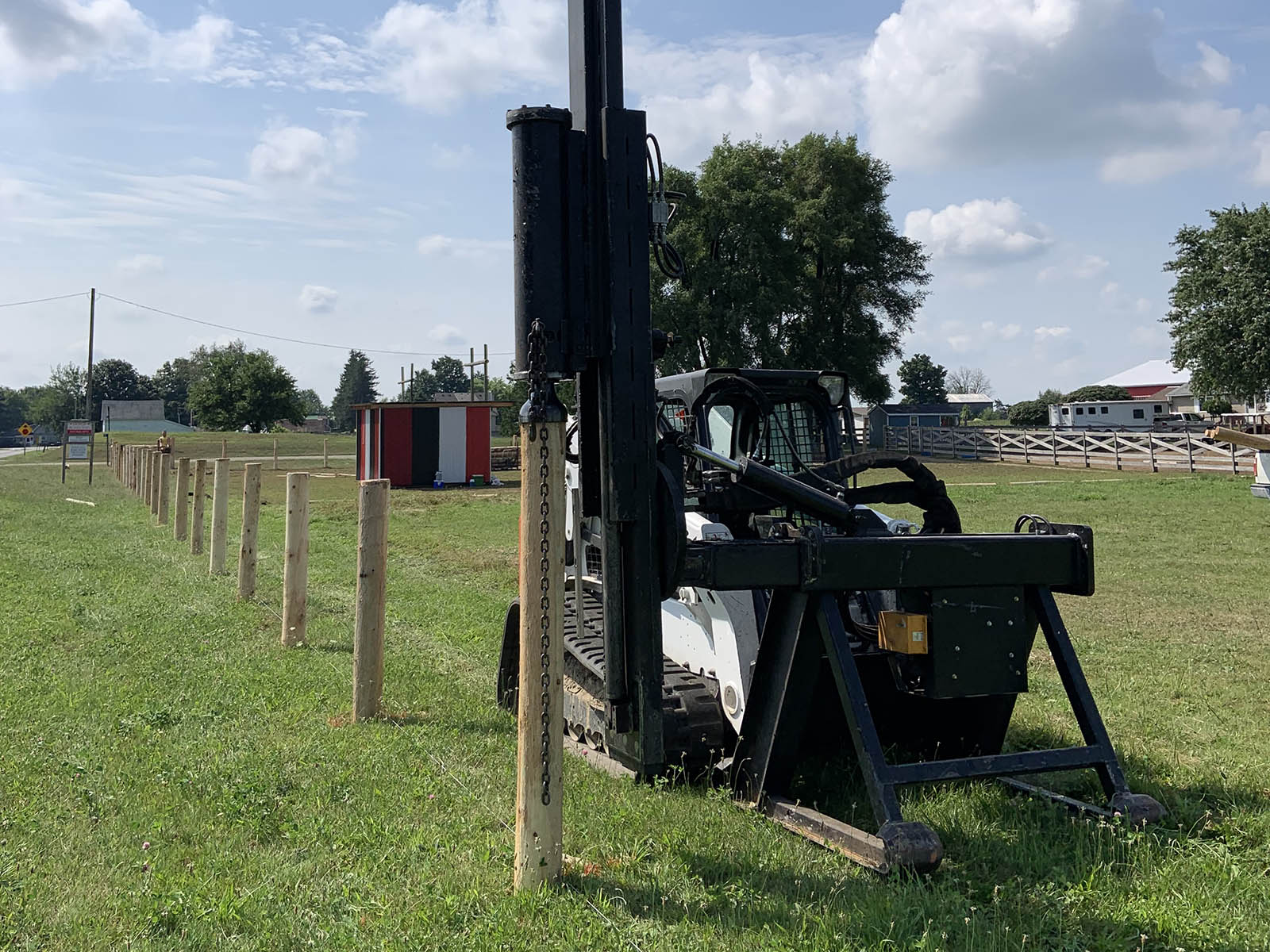 Post Pounding Services Ontario - Inline Fence