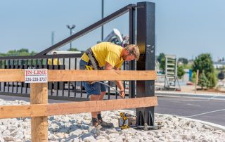 Fence Installation - In-Line Fence - Fencing Contractor