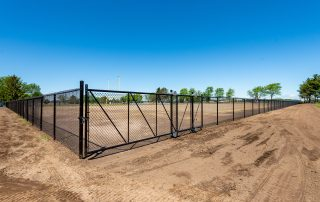 Colored Chain Link Fence Black
