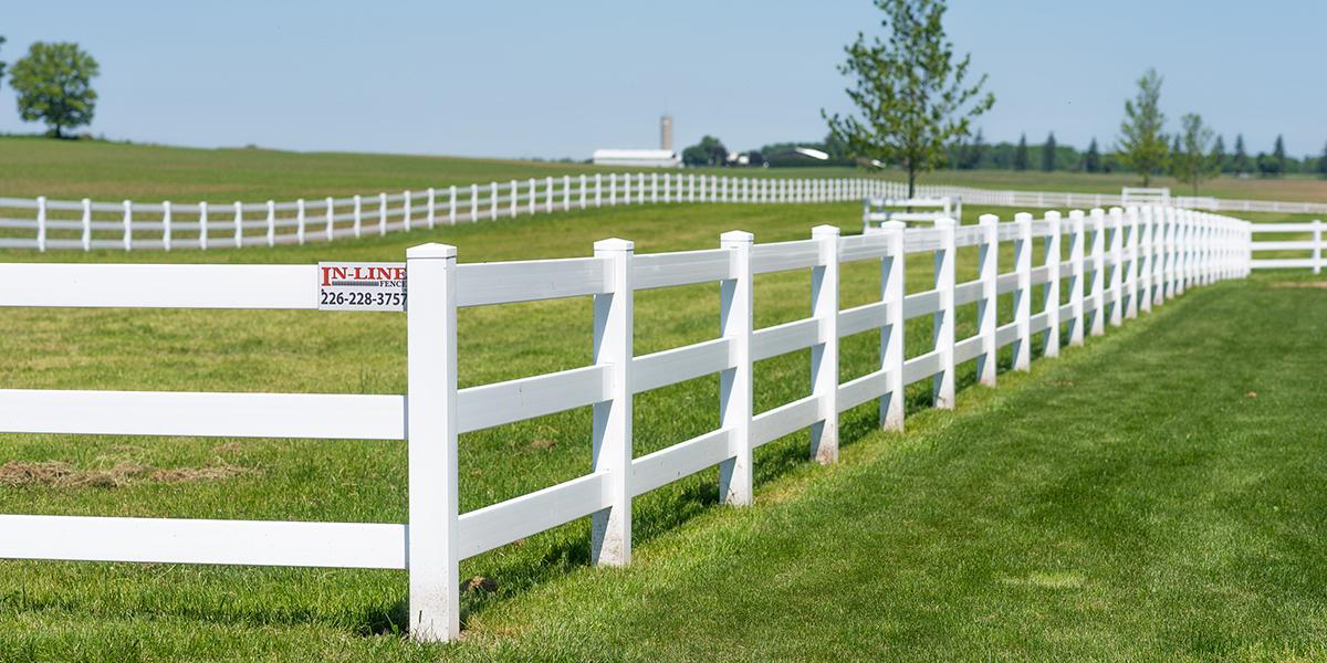 Vinyl Fencing - In-Line Fence - Desktop - 1200x600