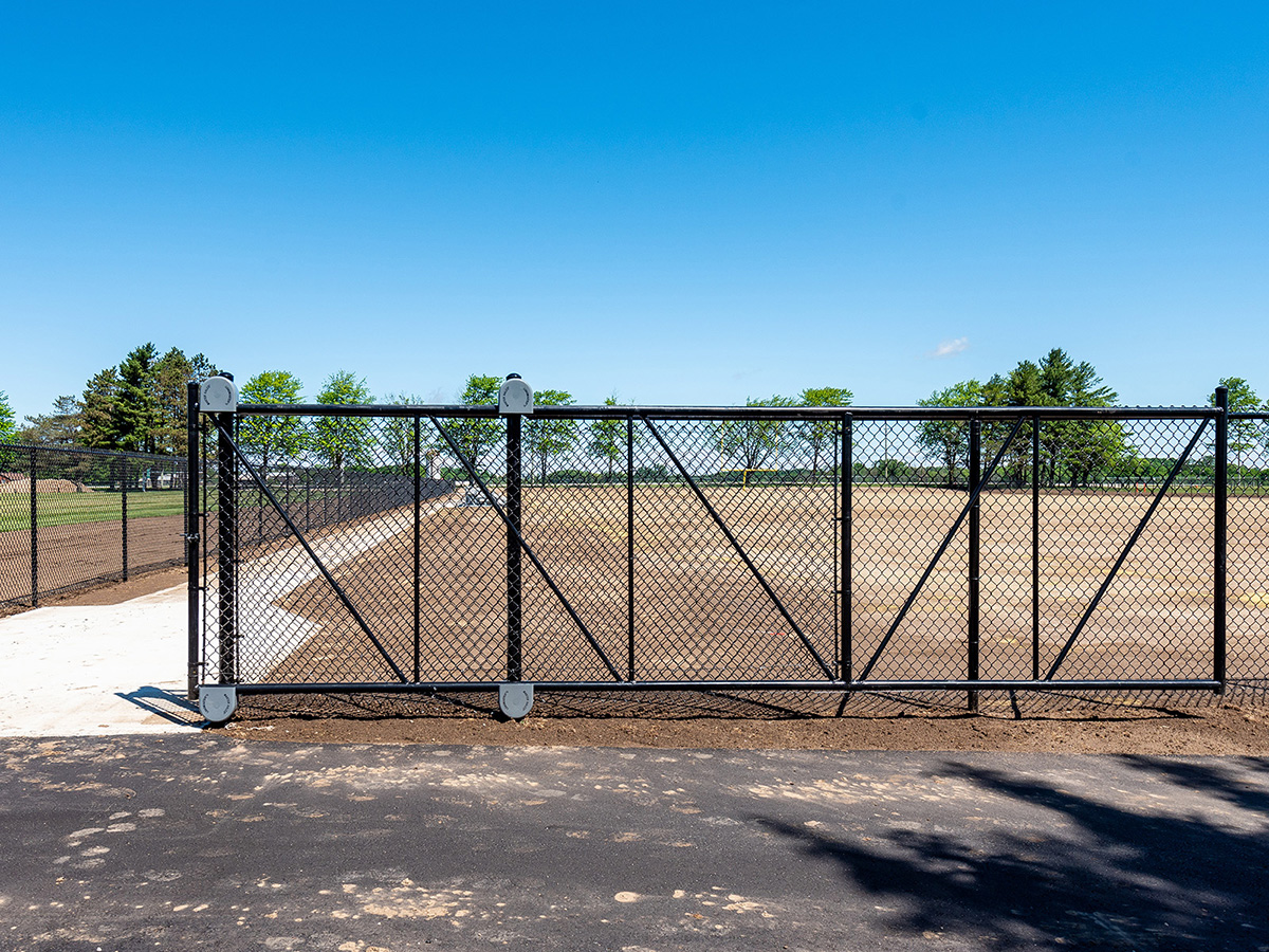 Coloured Chain Link Fence Gate - Black - In-Line Fence