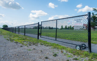 Coloured Chain Link Fence Gate - In-Line Fence