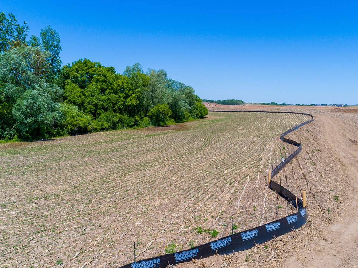 Silt Fencing - In-Line Fence -01