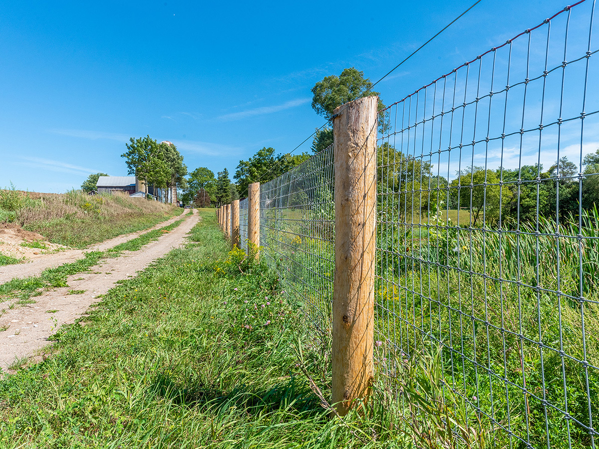 Woven Wire Fence - In-Line Fence